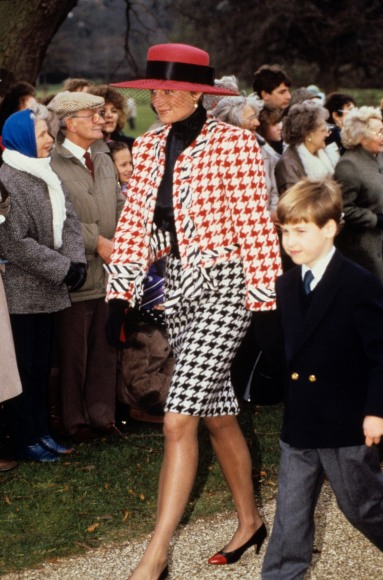 Mandatory Credit: Photo by REX/Shutterstock (179882c) Princess Diana and Prince William Princess Eugenie Christening at Sandringham in Norfolk, Britain - 1990